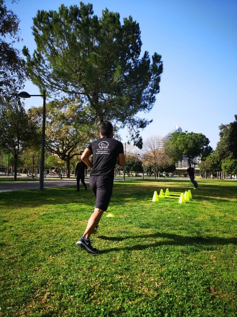 entrenamiento en el rio valencia